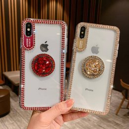 Luxury Bling Glitter Rhinestone Phone Case For Samsung Galaxy Note 10 Plus 9 8 S10 S10E S9 Plus S8 Stand Holder Case Caver With Lanyard