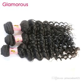 Glamorous Peruvian Virgin Hair Extensions Double Wefted Deep Body Wave Remy Human Hair 4Pcs lot Brazilian Indian Malaysian Hair Weaves 100g