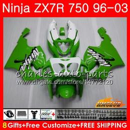 Body For KAWASAKI NINJA ZX-750 ZX-7R ZX750 ZX 7R 96 97 98 99 28HC.0 ZX 7 R ZX 750 ZX7R 1996 1997 1998 1999 2000 Fairing Kit Hot Green black