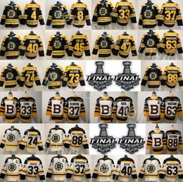 2019 Stanley Cup Final Boston Bruins Charlie McAvoy Jersey Jake DeBrusk Zdeno Chara Patrice Bergeron Brad Marchand Orr David Pastrnak Hockey