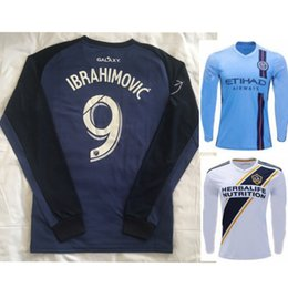2019 2020 Los Angeles soccer jersey new york city Ibrahimovic la Galaxy home away 19 20 GIOVANI COLE custom long sleeve football shirt
