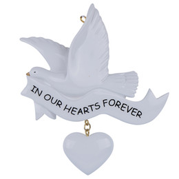 Maxora In Our Hearts Forever Resin Craft Personalized Memorial Christmas Tree Ornaments For Valentine's Day Gifts Wedding Home Decoration