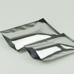 Wholesale 16*24cm 100pcs lot aluminum foil flat plastic bag, heat seal packing pocket-silver mylar plastic coffee bean storage sack,food bag
