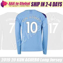 KUN AGUERO Long sleeve jersey 2020 Black BERNARDO SILVA MAHREZ STERLING football shirts city Long sleeve Soccer Jersey