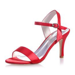 9920-03 Open Toe Wedding Shoes Stiletto Heel Pumps Heels High Heel Custom Made ModestWomen's Prom Party Evening Dress Wedding Bridal Shoes