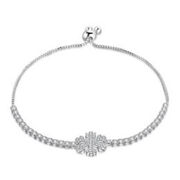 Fashion Jewelry Luckyshine 6 Pcs 925 Silver snowflake Chain Bracelet Women Charm Cubic Zirconia Bracelet Wedding Gift Jewelry New