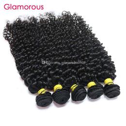 Glamorous Malaysian Hair Weaves 100g pc Jerry Curly Hair Bundles 4pcs Natural Color High Quality Brazilian Peruvian Indian Virgin Human Hair