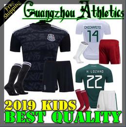 2019 Mexico Kids kit Soccer Jerseys A.GUARDADO 19 20 Mexico CHICHARITO Jersey H.LOZANO Football Shirt CARLOS V Mexico Kids Jersey
