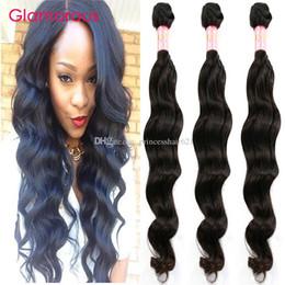 Glamorous Virgin Human Hair Weaves Brazilian Natural Wave Hair 3 Bundles 8-34inch Peruvian Indian Malaysian Virgin Hair Extensions No Tangle