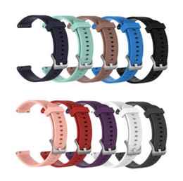 20mm 22mm L S Size Replacement Sport Silicone Watch band Strap Wristband for Samsung Galaxy Watch Active Galaxy 42mm 46mm Smart Watch band