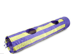 Pet Tunnel Cat Play 2 Holes Cat Tunnel Play Crinkle Sound Bulk Cat Toys Rabbit Play Tunnel