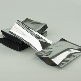 24*37cm 100pcs lot Plain Pocket, Silvery Aluminum Plating Flat Facial Mask Packing Bag, Heat-sealed Silvery Mylar Electronic Product package