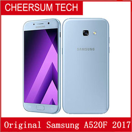 Refurbished Original Samsung Galaxy A5 2017 A520F 5.2 inch Octa Core 3GB RAM 32GB ROM 16MP 3000mAh 4G LTE Android Smart Phone Free DHL 1pcs