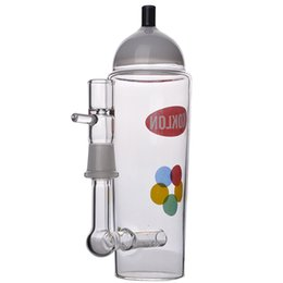 7.3 Inchs Bottles Glass Beaker Bongs Glass Oil Rig Glass Smoking Water Pipes Bubblers Heady Dab Bong With 14mm Bowl Hookahs