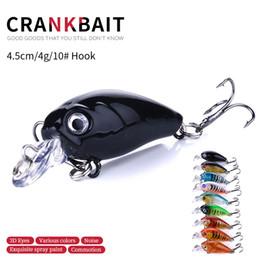 HENGJIA New Arrival mix 9 colors 4.5CM 4G 10# hooks CRANKBAIT fishing lures fishing hard bait Big Crank lures 9pcs CB005