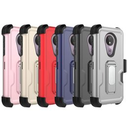 3 in 1 Hybrid Defender Phone Cases For LG Stylo 5 K40 For Samsung Galaxy A10E With Belt Clip A