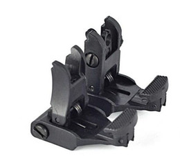 Free Shipping AR-15 Rapid Tactical Front And Rear Flip-up Back-up Sight Set For Picatinny Rail