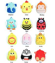 19 Colors Cute baby boys girls plush handmade backpack kindergarten preschool bag Children cartoon backpack