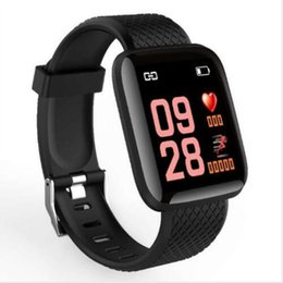 Fitness Tracker ID116 PLUS Smart Bracelet Heart Rate Blood Pressure Monitor Sports Smart Band V4.0 IP67 Waterproof For Android IOS Phone