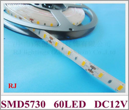 waterproof IP44 SMD 5730 LED strip light flexible strip LED soft strip light lamp DC12V SMD5730 60led M 5M roll 300led 60W roll