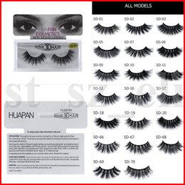 HUAPAN 3D Mink Eyelashes Eyelashes Messy Eye Lash Extension Sexy Eyelash Full Strip Eye Lashes 17 Styles