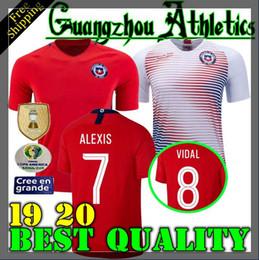 2019 Chile Copa America Soccer Jerseys 7 ALEXIS 8 A.VIDAL 10 VALDIVIA 17 MEDEL PINILLA VARGAS Customize 2019 2020 Home Away Football Shirt