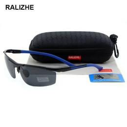 Mens Fashion Aluminum Magnesium Aviation Alloy Polarized Sunglasses Sun Glasses Driver Fishing Sports Black HD TAC 69mm Grey Rectangle Lens