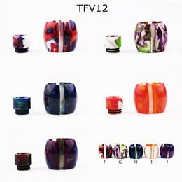 New Arrival 810 Stripes Resin Style Drip Tips For TFV8 BIG BABY TFV12 Tank Resin Tubes For TFV8 TFV12 Atomizers Resin Caps