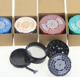 Amsterdam Grinder Zinc Alloy Tobacco herbal Grinder Cigar herb Spice Crusher Machine Magnet Strainer 4parts diameter 50mm
