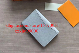 brand new famous designer real leather men wallet high quality short wallet card holder 30301