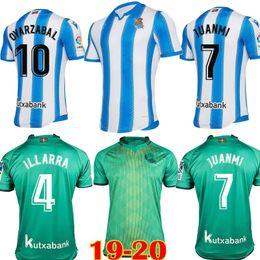 2019 Real Sociedad Royal Society home away green OYARZABA X.PRIETO CARLOS JUANMI mens camiseta de futbol Football shirt Soccer Jerseys 19 20