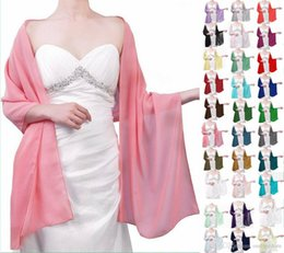 Soft Cheap Chiffon Bridal Shawl Evening Scarf Jackets White Bridal Wraps Newest Long Wedding Capes Bolero For Wedding Dress