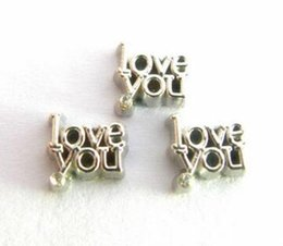 20PCS lot love you DIY Alloy Floating Locket Charms Fit For Magnetic Living Locket Pendant Jewelrys Making
