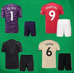 19 20 Maches UTD Football Kits POGBA RASHFORD MAGUIRE Soccer Jersey Shorts 2019 2020 MUF Home Away Soccer Sets Goalkeeper Uniforms