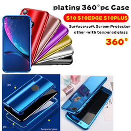 Plating 360 Degree Full Case For IPhone XS MAX X 8 6S PLUS 7 Samsung S10 S10 EDGE PLUS Note 9 S9 S8 Plus With Tempered Glass Hard PC Cover