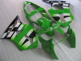 Injection Fairings bodywork for KAWASAKI Ninja 2000 2001 2002 ZX-6R ZX6R 636 ZX 6R 00 01 02 Green white Fairing body kit KC34