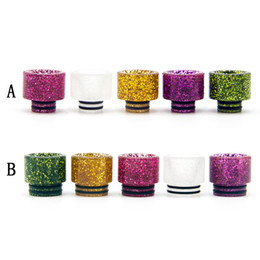 Shining Drip Tip 810 or Epoxy Resin Mouthpieces US Dollars Shine Glowing for 810 510 thread Atomizers DHL Free