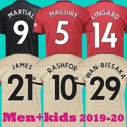 Thailand manchester POGBA soccer jersey 2019 2020 LINGARD MAGUIRE RASHFORD football shirt united UtD 19 20 uniforms man+kids kit jersey