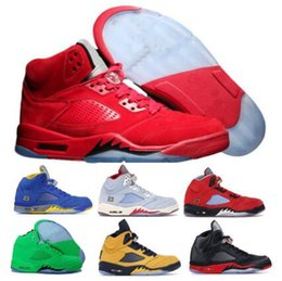 Cheap 5 5s Basketball Shoes Red Suede Trophy Room Laney Bred Inspire Oreo Grape Olympic OG 2019 New Mens Women Designer Sneakers Shoes