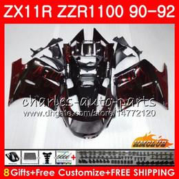 Fairing For KAWASAKI NINJA red flames hot ZZR-1100 ZX-11 R ZX11R 90 91 92 30HC.3 ZX-11R ZZR 1100 ZX11 R ZZR1100 ZX 11R 1990 1991 1992 Body