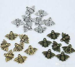 MIC 150pcs Antique silver   Gold   Bronze Zinc Alloy Lovely Bee Charms Pendants 16x20mm DIY Jewelry Fit Bracelets Necklace Earrings