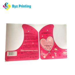 Custom glossy lamination logo printing waterproof shampoo labels with adhesive back