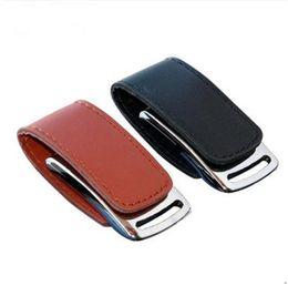 2019 Hot Custom Logo Leather usb flash drive + Key chain PC Leather USB Flash Drives 64G 128GB 16GB 32GB 256GB Memory Sticks Pen Drives gift