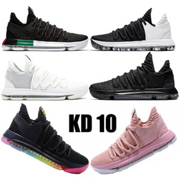 KD 10 X Elite Mid Kevin Durant BHM ZOOM youth mens basketball shoes university beture Designer sneakers Multi color Numbers Blackout Trainer