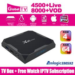X96 MAX Smart TV Box Amlogic S905X2 4G 64G Android 8.1 IPTV Subscription Wifi 2.4+5.8G 4K HD 8000+VOD IPTV Box