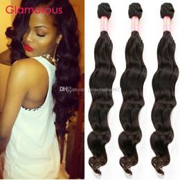 Glamorous Malaysian Virgin Hair Weaves 3Pieces Natural Wave Human Hair Top Quality Most Popular Peruvian Indian Brazilian Hair Weave Bundles