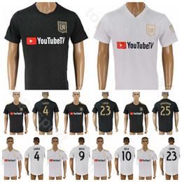 18-19 Los Angeles FC Soccer Jersey Men 10 VELA 9 ROSSI 20 ATUESTA 14 KAYE 21 RAMIREZ Black White Football Shirt Kits Uniform