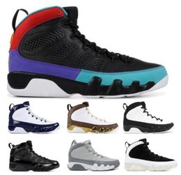 9 9s Basketball Shoes Sneakers 2019 Black Bred Dream It UNC City Of Flight Space Jams Mens Man Women Melo Classic Baskets Shoes