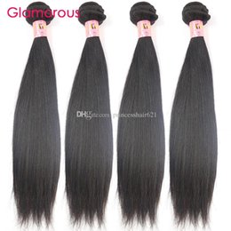 Glamorous Malaysian Virgin Hair Weaves 4 Bundles Peruvian Indian Brazilian Straight Hair Weft 8-34inch Cheap Human Hair Extensions 100g pcs