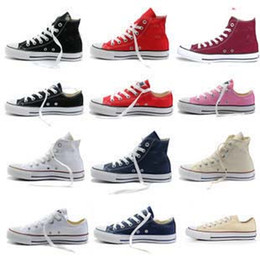 2019 most popular 15 colors canvas shoes low&high style classic Canvas Shoes,Lace up women&men Big kids Sneakers,students lace up shoes